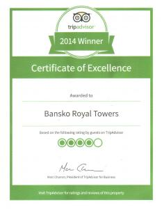 BANSKO ROYAL TOWERS Awards